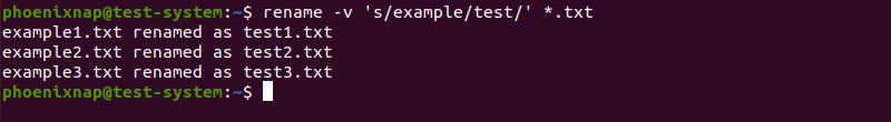Renaming multiple files using the rename command