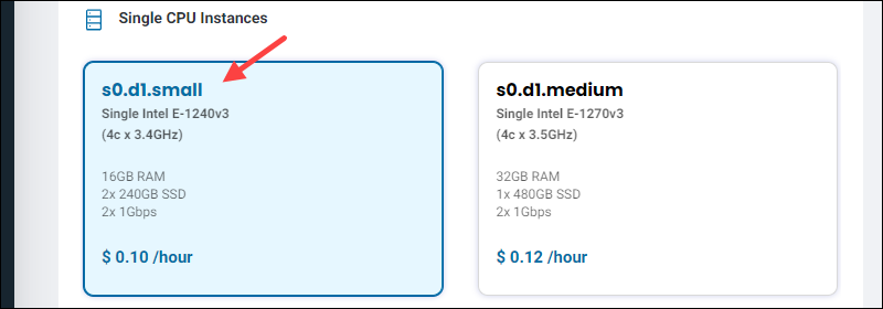 s0.d1.small BMC instance