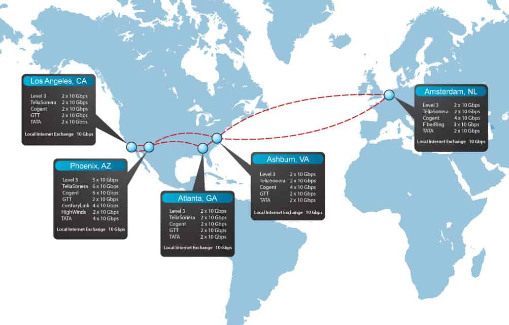 Carrier Network Map