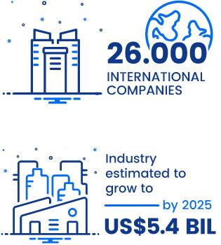 26,000 international companies