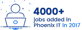 4000+ jobs added in Phoenix IT in 2017