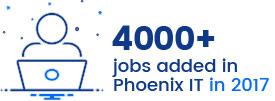 Más de 4000 trabajos agregados en Phoenix IT en 2017