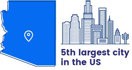 Quinta ciudad más grande de EE. UU.